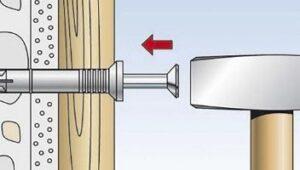Как установить дюбель для газобетона фото