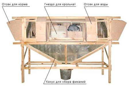 как правильно сделать клетку для кроликов фото